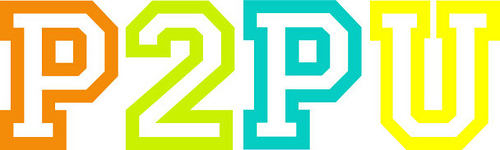 Logo of the peer-to-peer university / copyright: p2pu