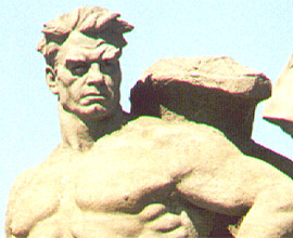 2001 / Sowjetheld - Aufgenommen bei Russlandreise in Wolgograd (eh. Stalingrad) / Photo: Balthas Seibold